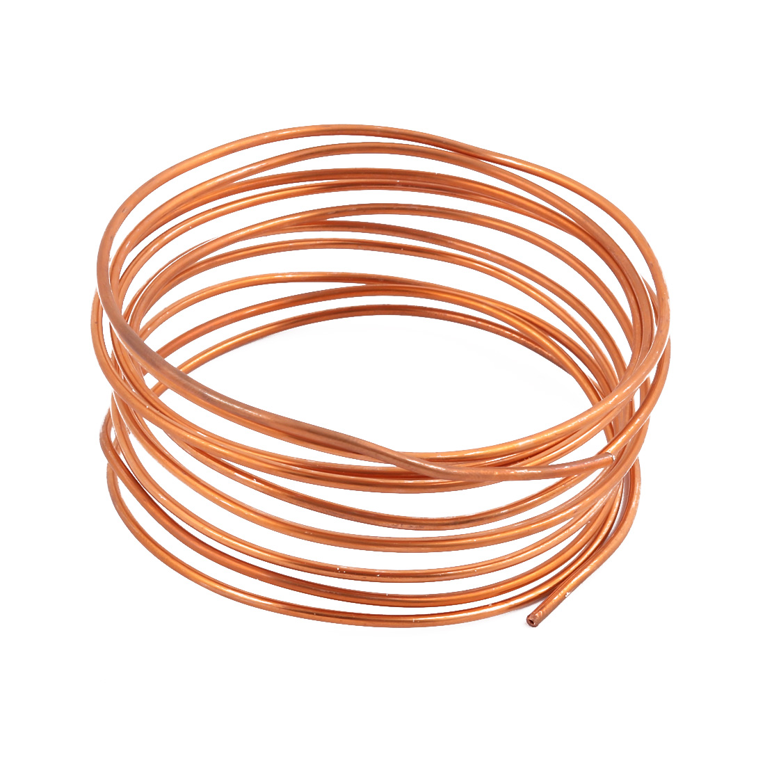 2.0mm Dia 2.4M 7.9Ft Length Copper Tone Refrigerator Refrigeration Tubing Coil