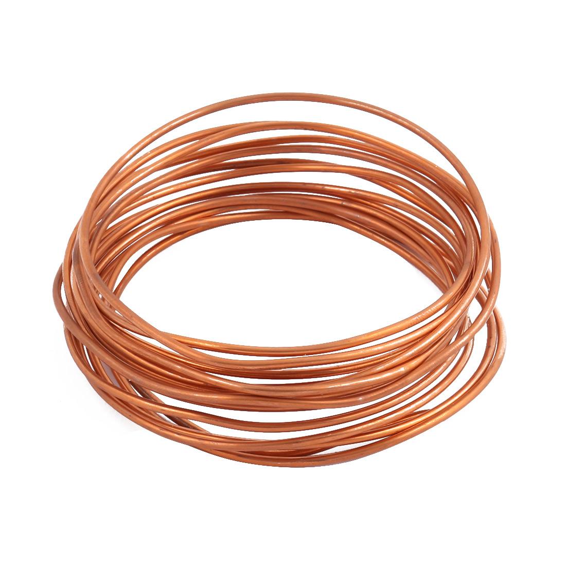 2.0mm Dia 3.4M 11.2Ft Length Copper Tone Refrigerator Refrigeration Tubing Coil