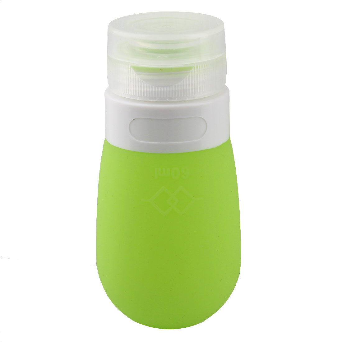 Travel Plastic Cap Silicone Perfume Lotion Cosmetic Bottle Container Pale Green 60ml