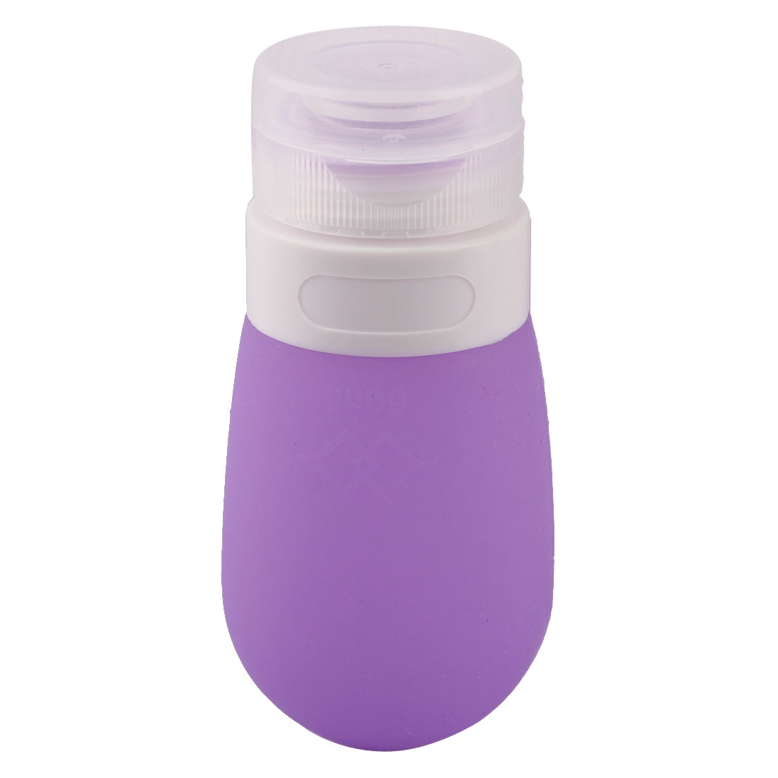 Travel Plastic Cap Silicone Perfume Lotion Cosmetic Bottle Container Purple 60ml