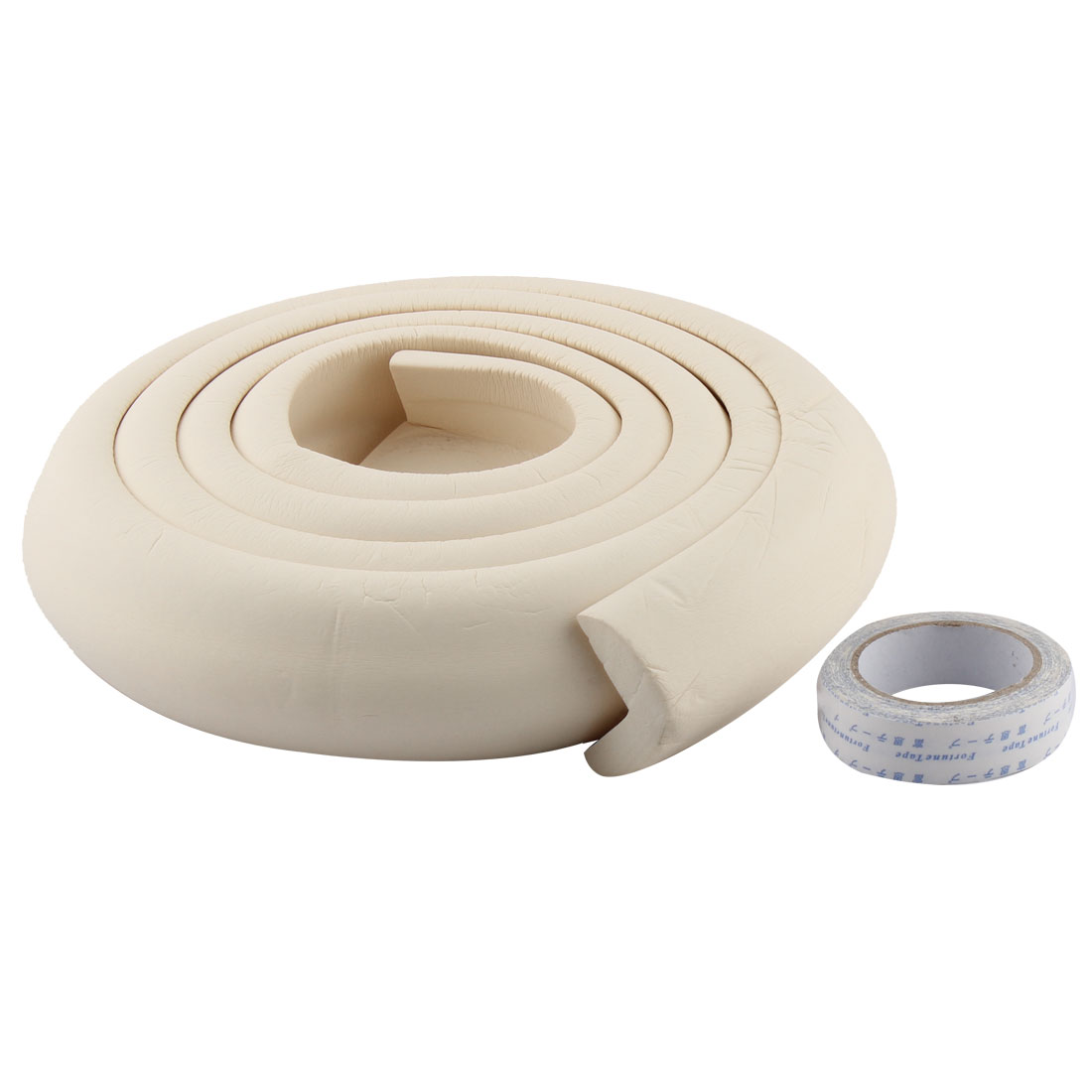 Furniture Corner Edge Soft Safety Protection Cushion Guard Beige w Adhesive Tape