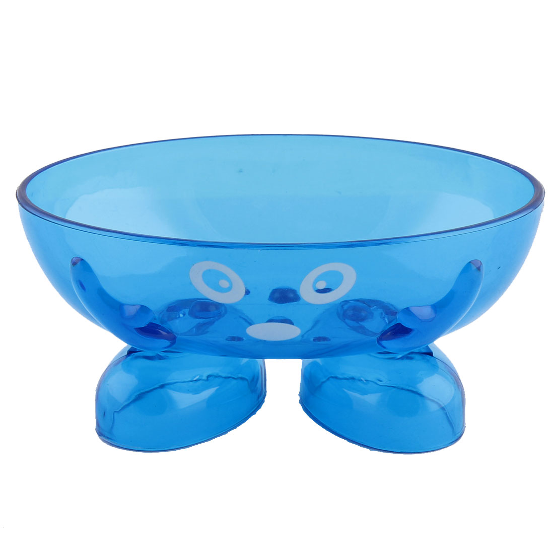 Home Bathroom Plastic Cartoon Face Pattern Soap Box Container Case Holder Blue