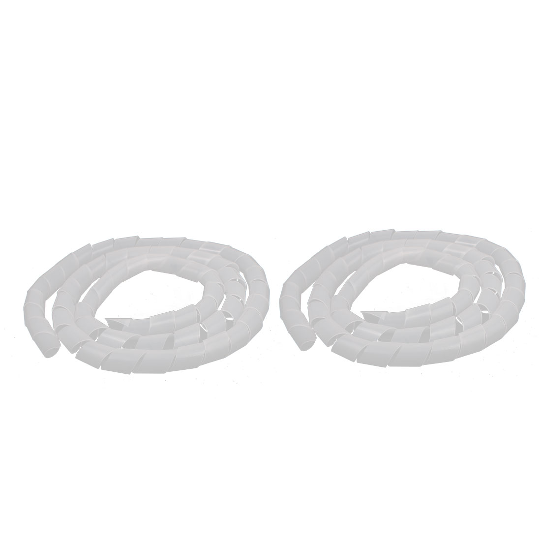 2Pcs 25mm Flexible Spiral Tube Cable Wire Wrap Computer Manage Cord Clear 2M
