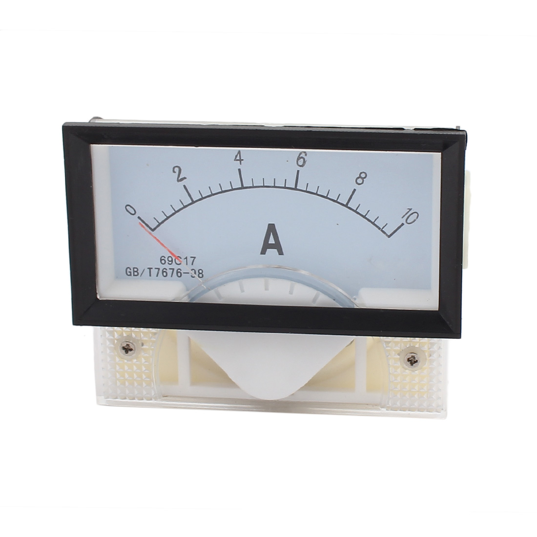 DC 0-10A Rectangle Panel Meter Gauge Current Analogue Analog Ammeter White