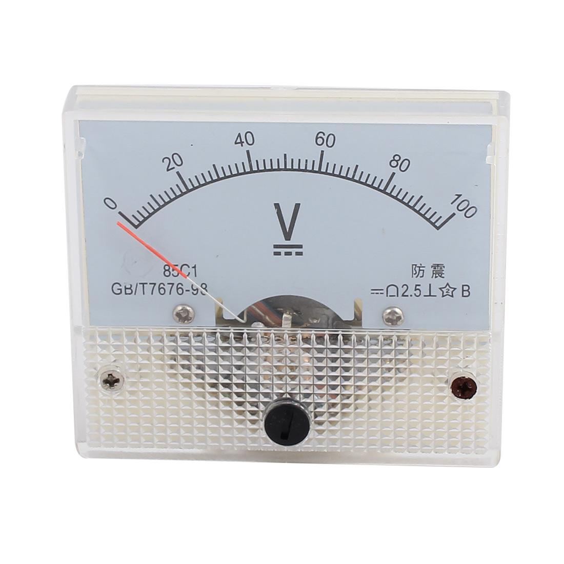 DC 0-100V Analog Volt Voltage Panel Meter Voltmeter Gauge 85C1
