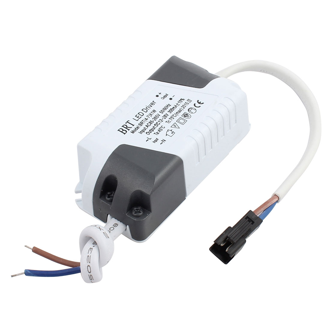 4-7 x 1W Terminal Connector Advanced Plastic Shell LED Driver Power Supply