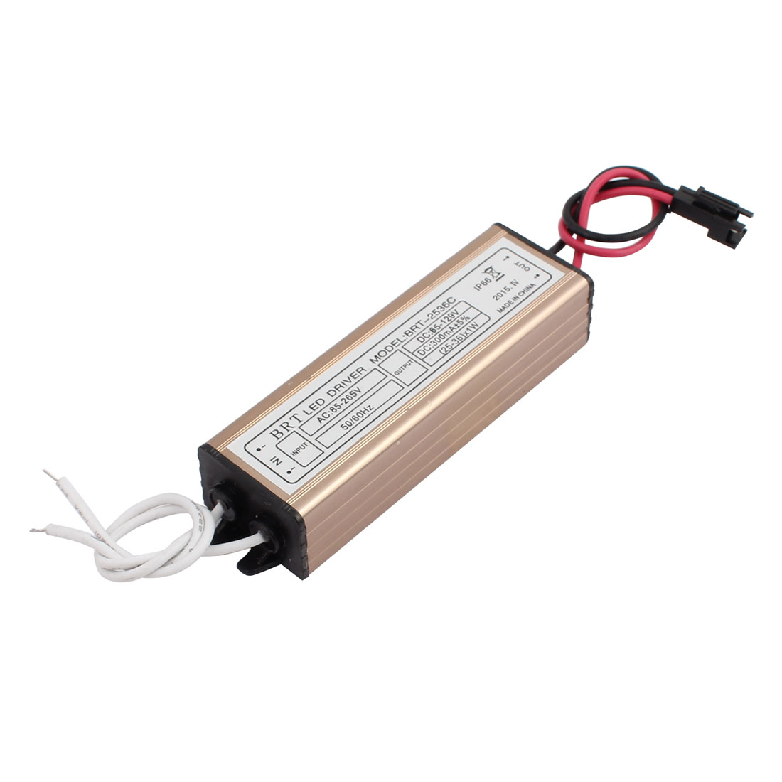 AC85-265V to DC65-129V 300mA Transformer IP66 Waterproof LED Driver Power Supply