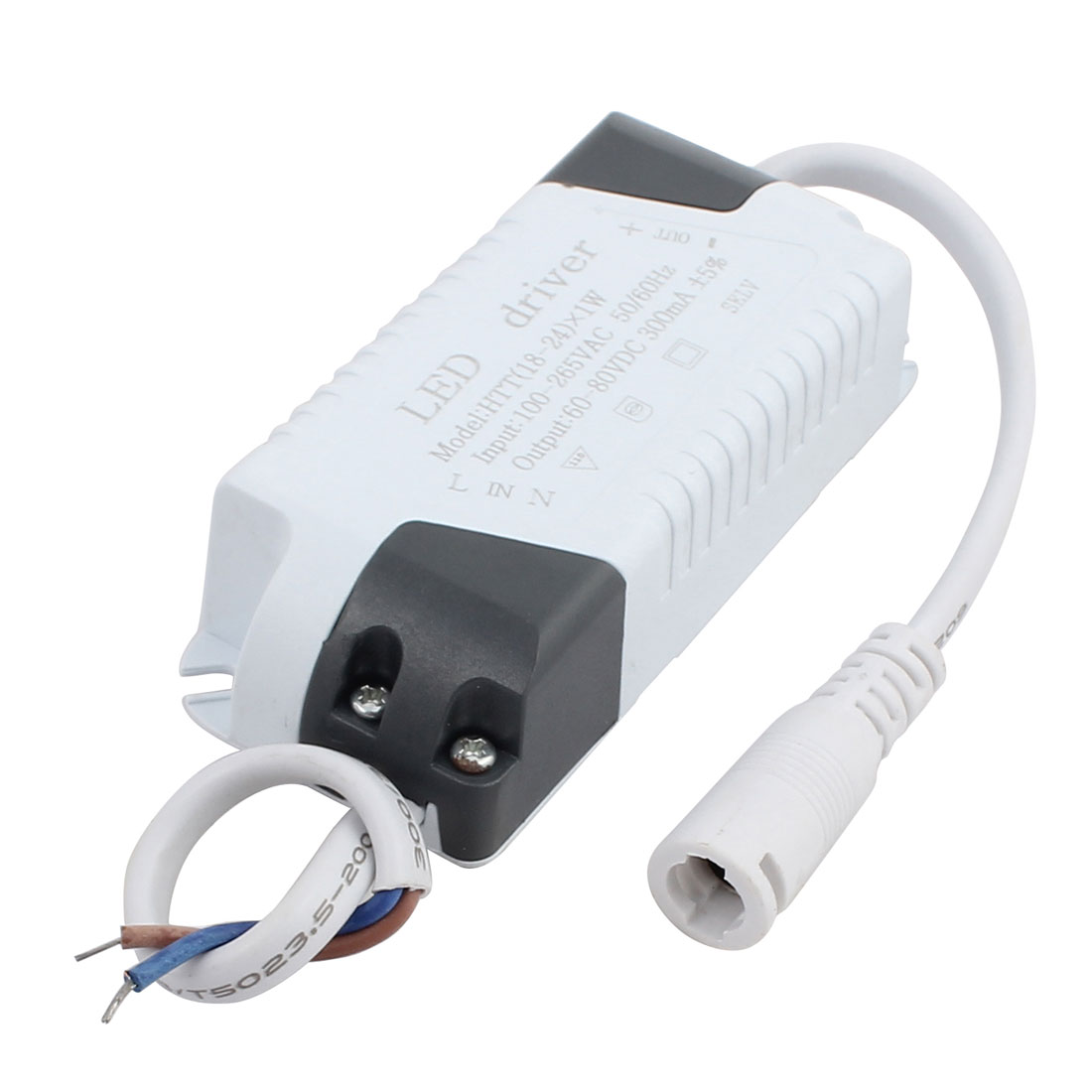 18-24 x 1W DC Female Connector Advanced Plastic Shell LED Driver Power Supply