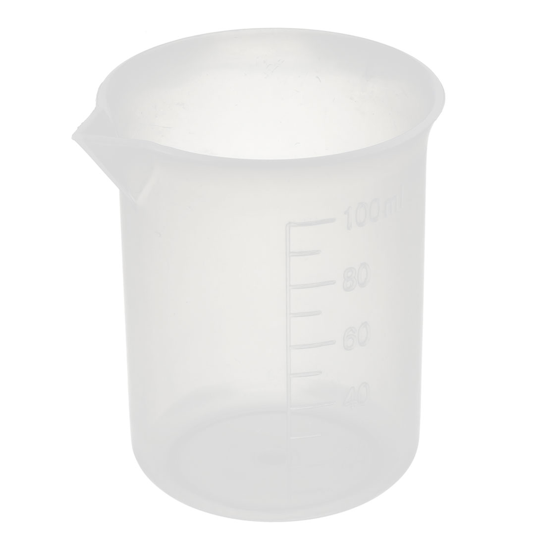 Lab 100mL Plastic Science Experiment Measuring Graduated Beaker Cup