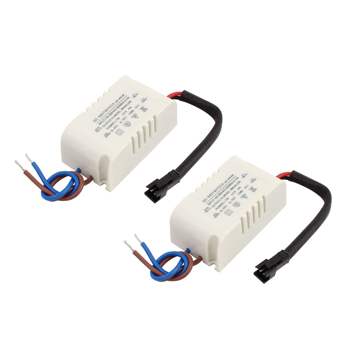 4-7 x 1W Terminal Plastic Shell LED Driver Power Supply Converter 2Pcs