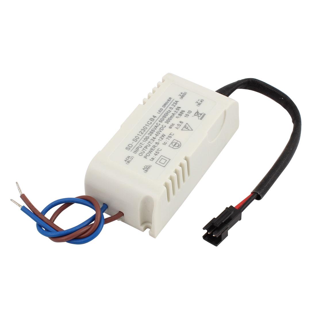 8-12 x 1W Terminal Plastic Shell LED Driver Power Supply Converter
