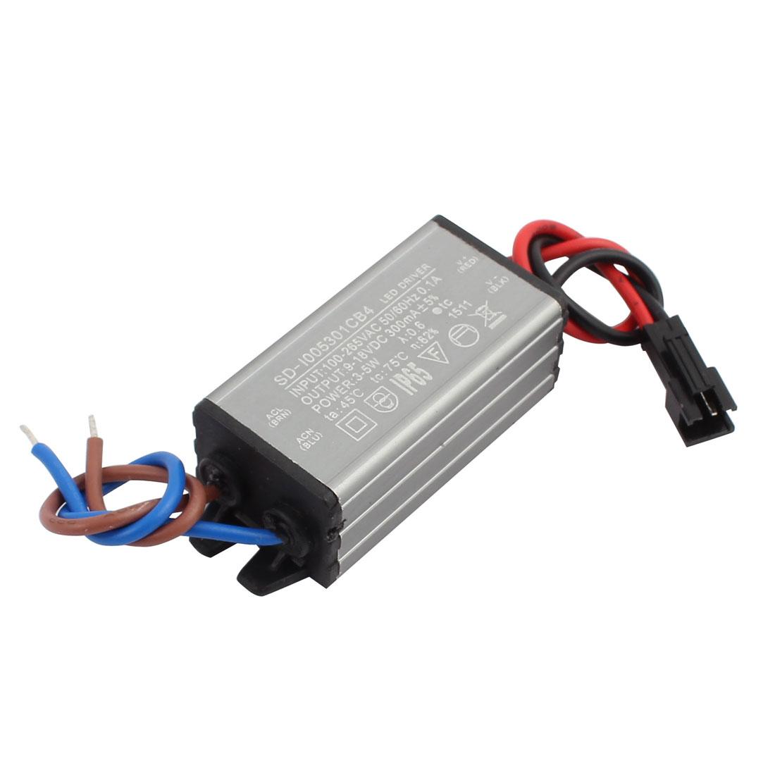 AC100-265V to DC9-18V 3-5W Transformer IP65 Waterproof LED Driver Power Supply