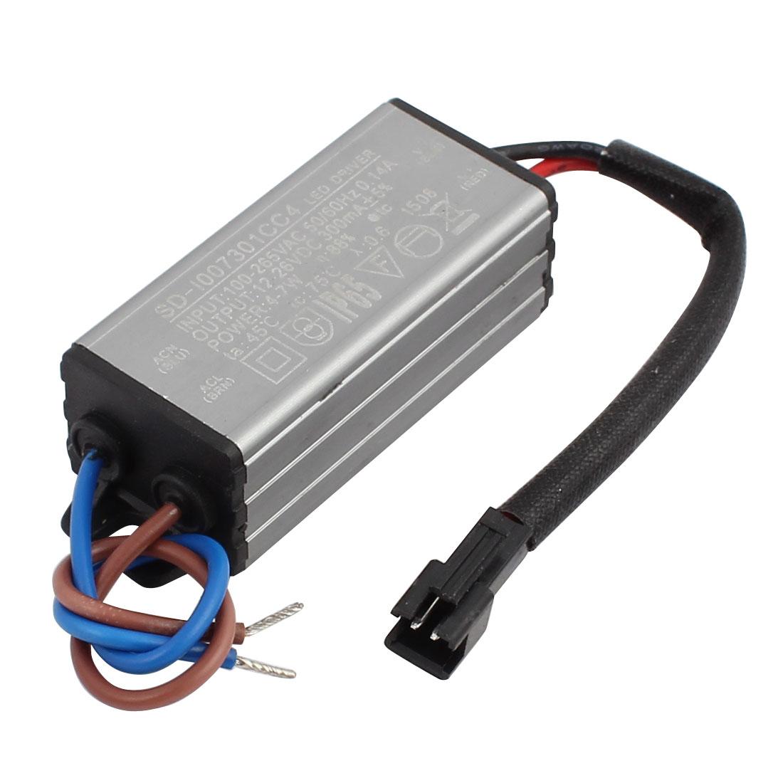 AC100-265V to DC12-26V 4-7W Transformer IP65 Waterproof LED Driver Power Supply