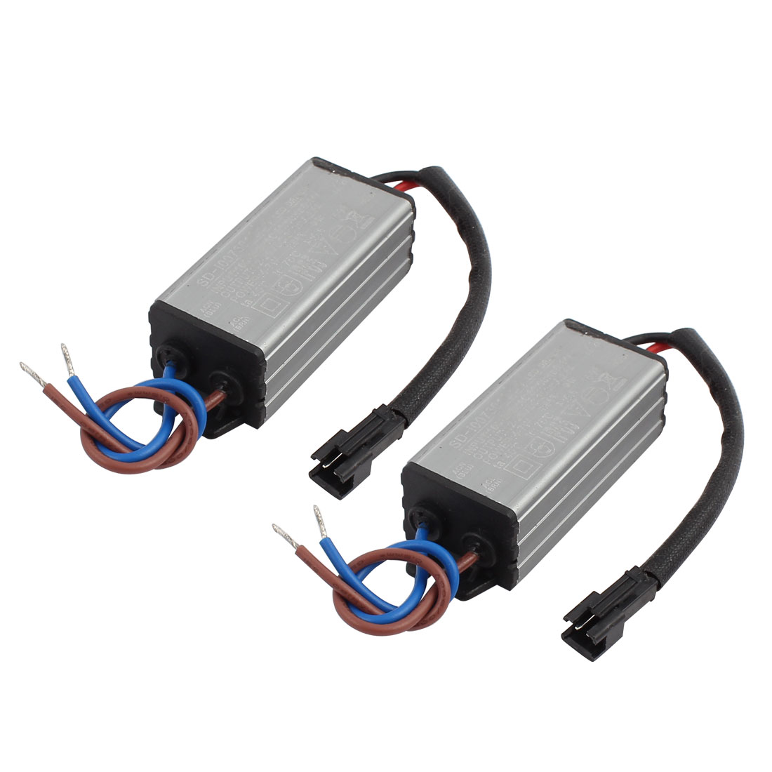 2Pcs AC100-265V to DC12-26V 4-7W Transformer IP65 Waterproof LED Driver Power Supply