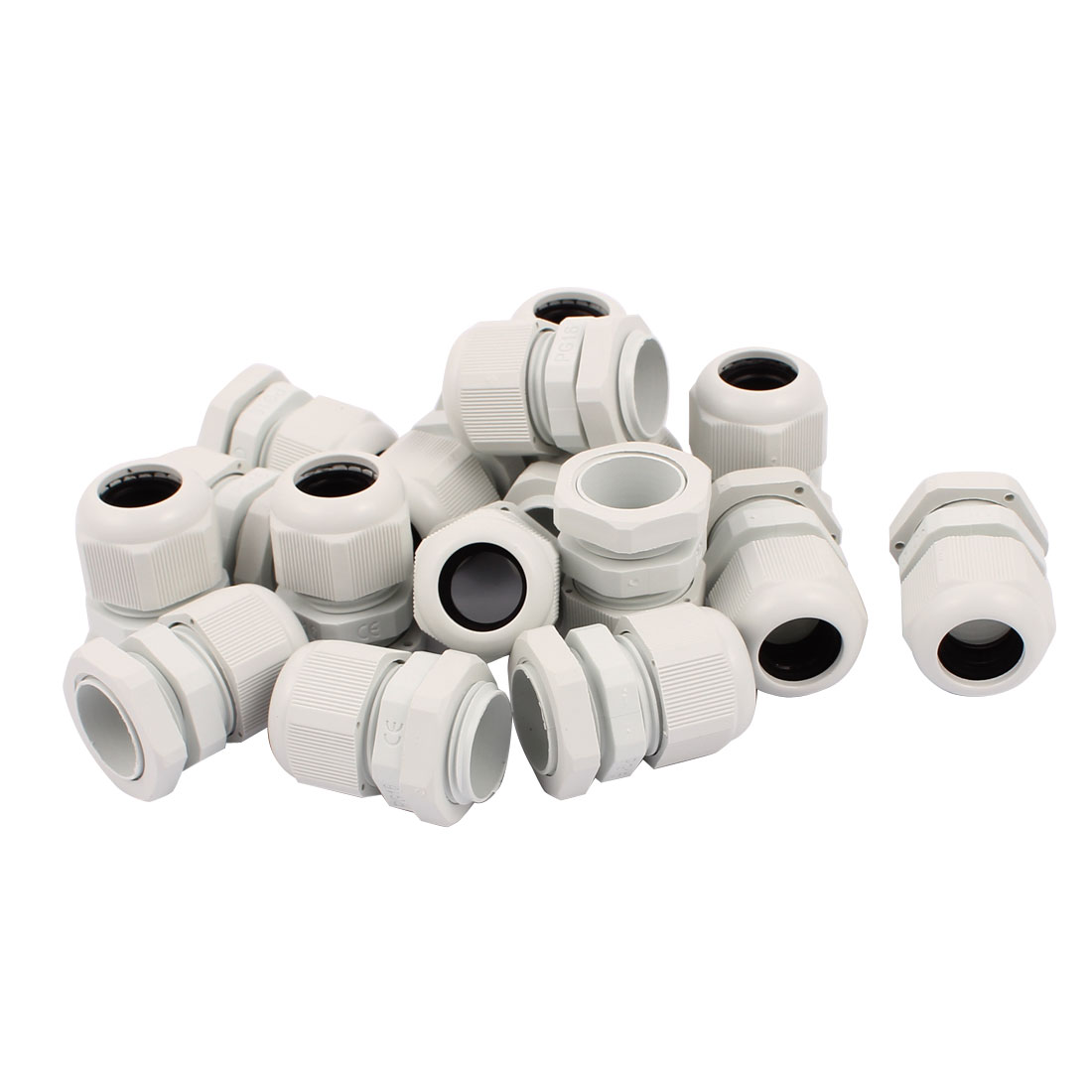 16 PCS PG16 Water Resistance Cable Glands Fixing Cord Connector Joint Adapter White