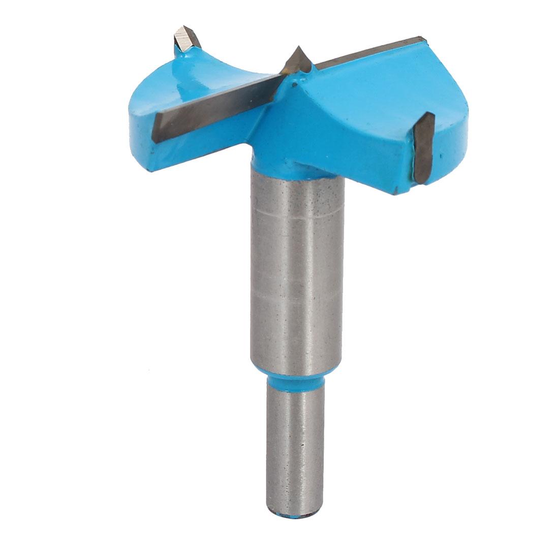 55mm Cutting Dia 9.5mm Round Shank Hinge Boring Drill Bit Wood Cuting Tool