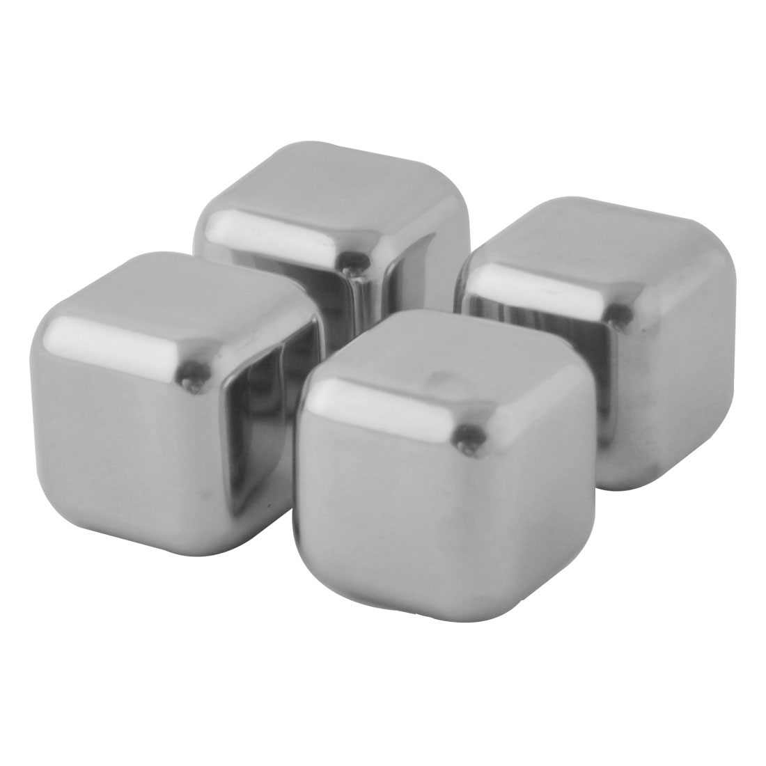 Bar Pub Vodka Beer Stainless Steel Whisky Cooling Stones Ice Cube 4 Pcs