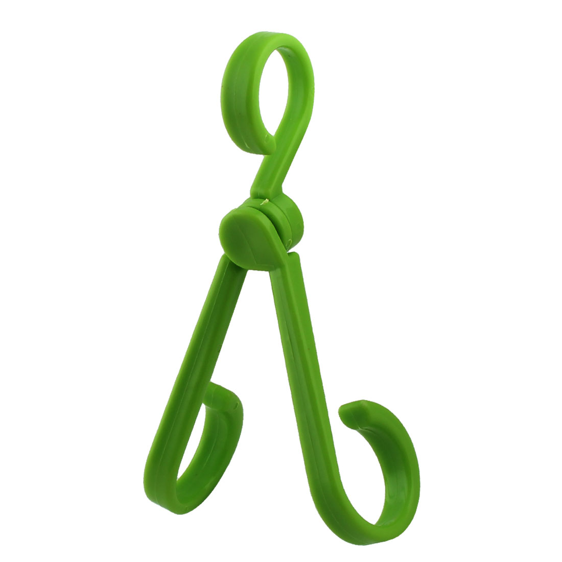 Home Car Kitchen Portable Plastic Conduplicate Pothook Hook Hanger Green