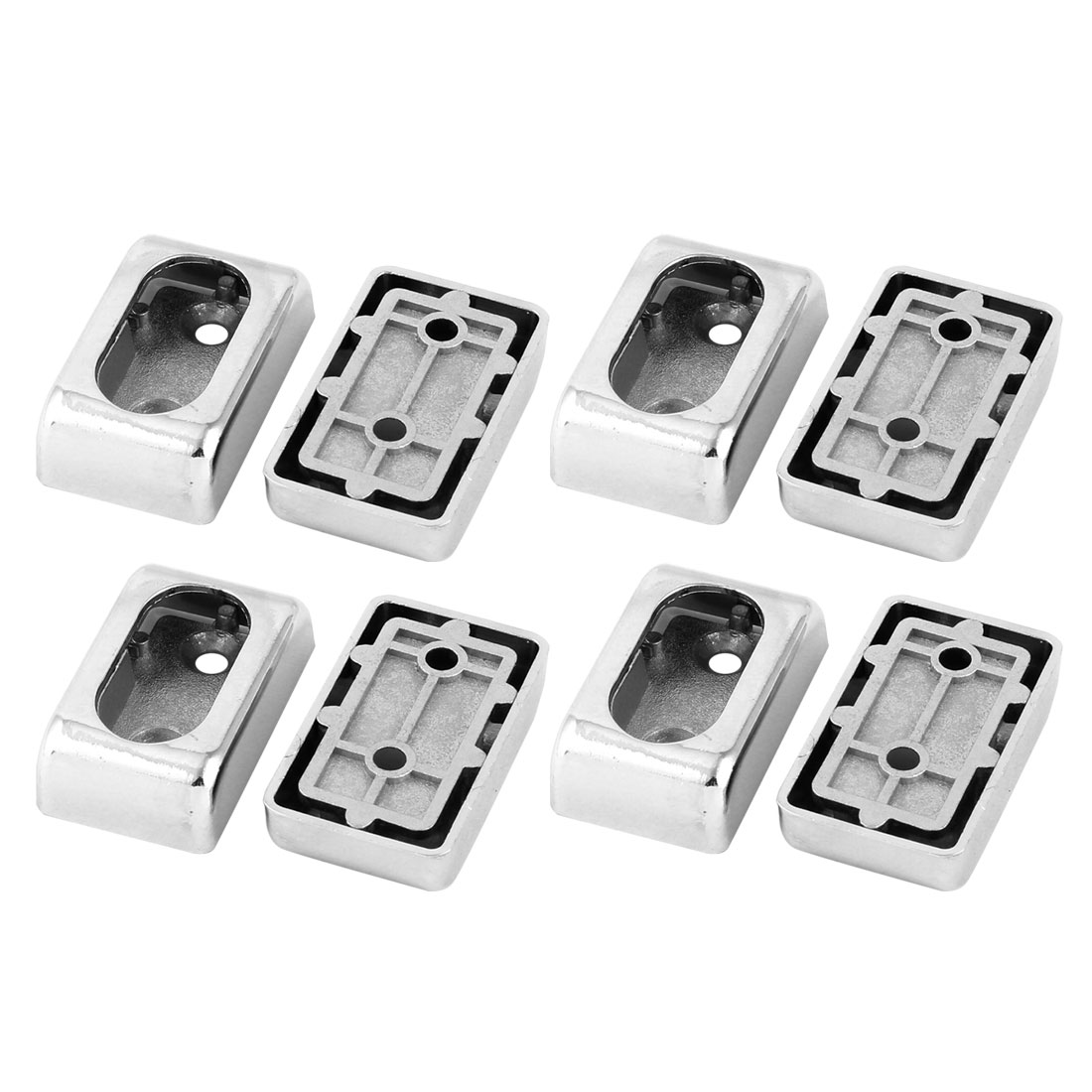 Home Metal Garment Clothes Closet Rod Holder End Support Pole Socket Flange Bracket 8pcs