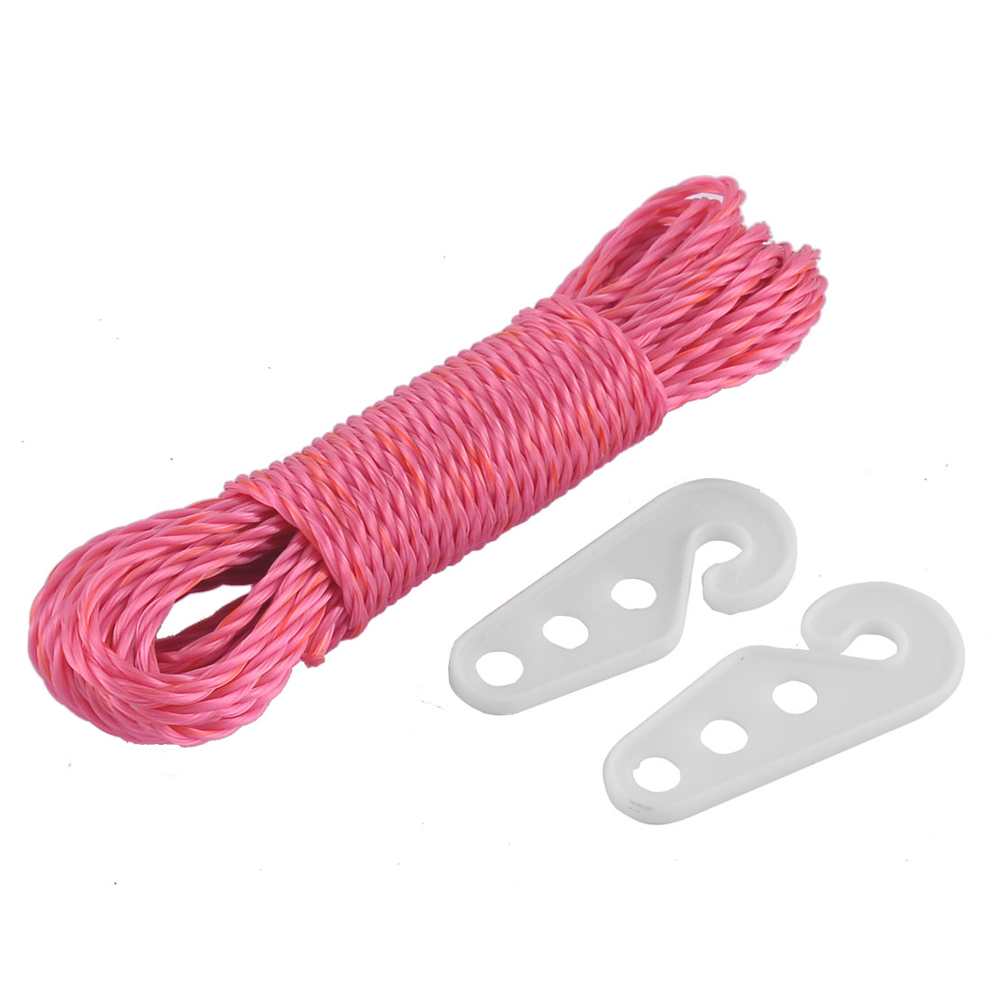 Laundry Indoor Outdoor Clothesline Cloths Line Rope String Fuchsia 33Ft Long