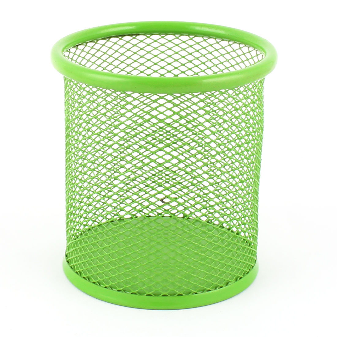School Office Metal Cylinder Desk Pen Organizer Mesh Holder Green 9.5cm High