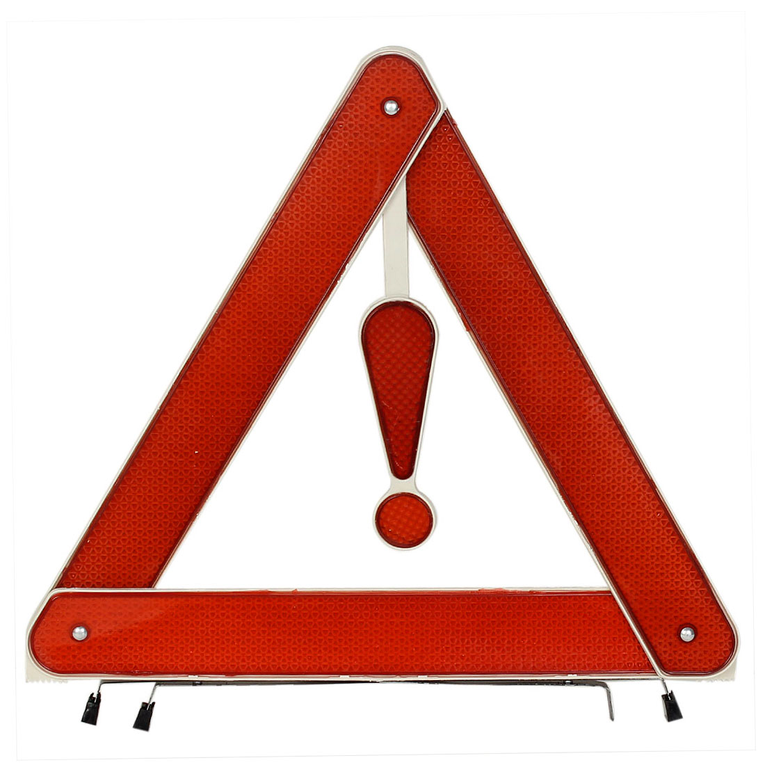 Red Plastic Foldable Emergency Warning Reflecting Trigonal Baffle Board Traffic Sign