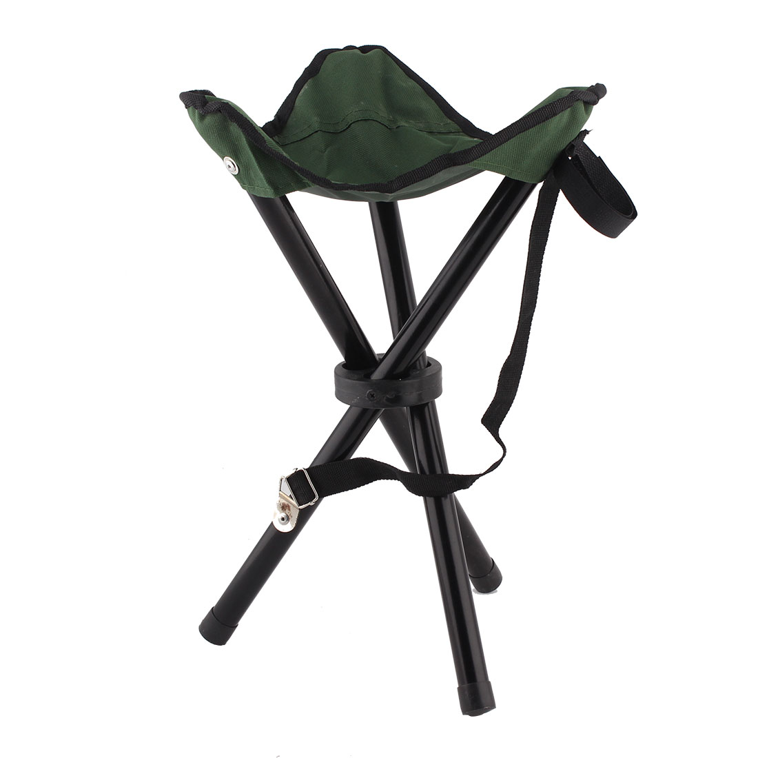 Outdoor Hiking Carriable Folding Bench Pocket Chairs Tripod Seat Stool Green