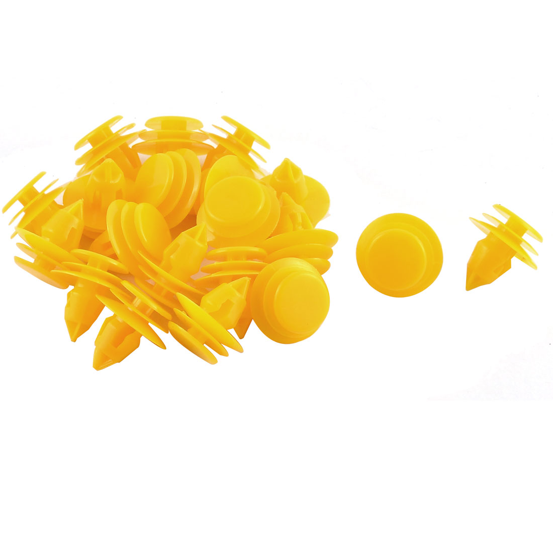 20 Pcs Yellow Plastic Rivet Bumper Door Interior Moulding Mat Clips