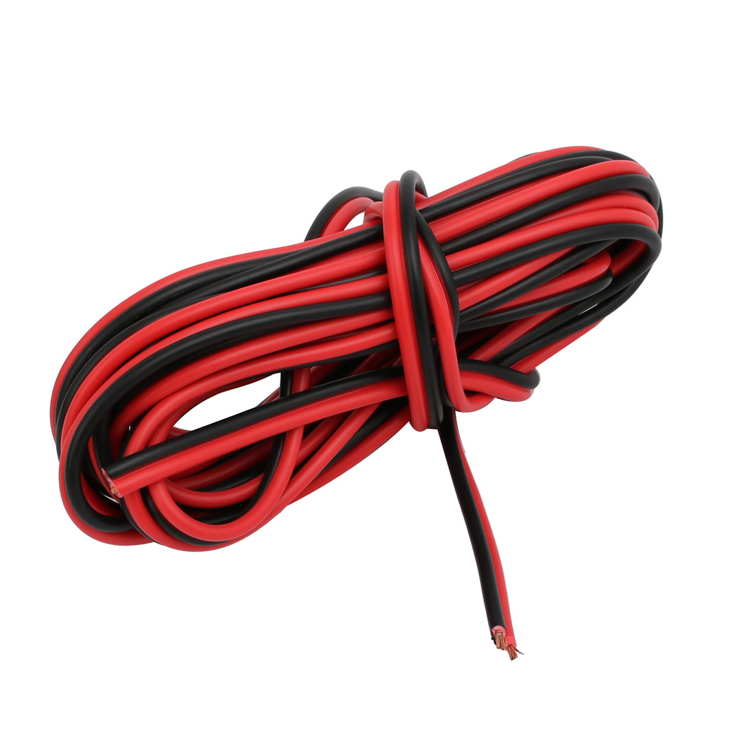 1.2mm2 Indoor Outdoor PVC Insulated Electrical Wire Cable Black Red 4 Meter