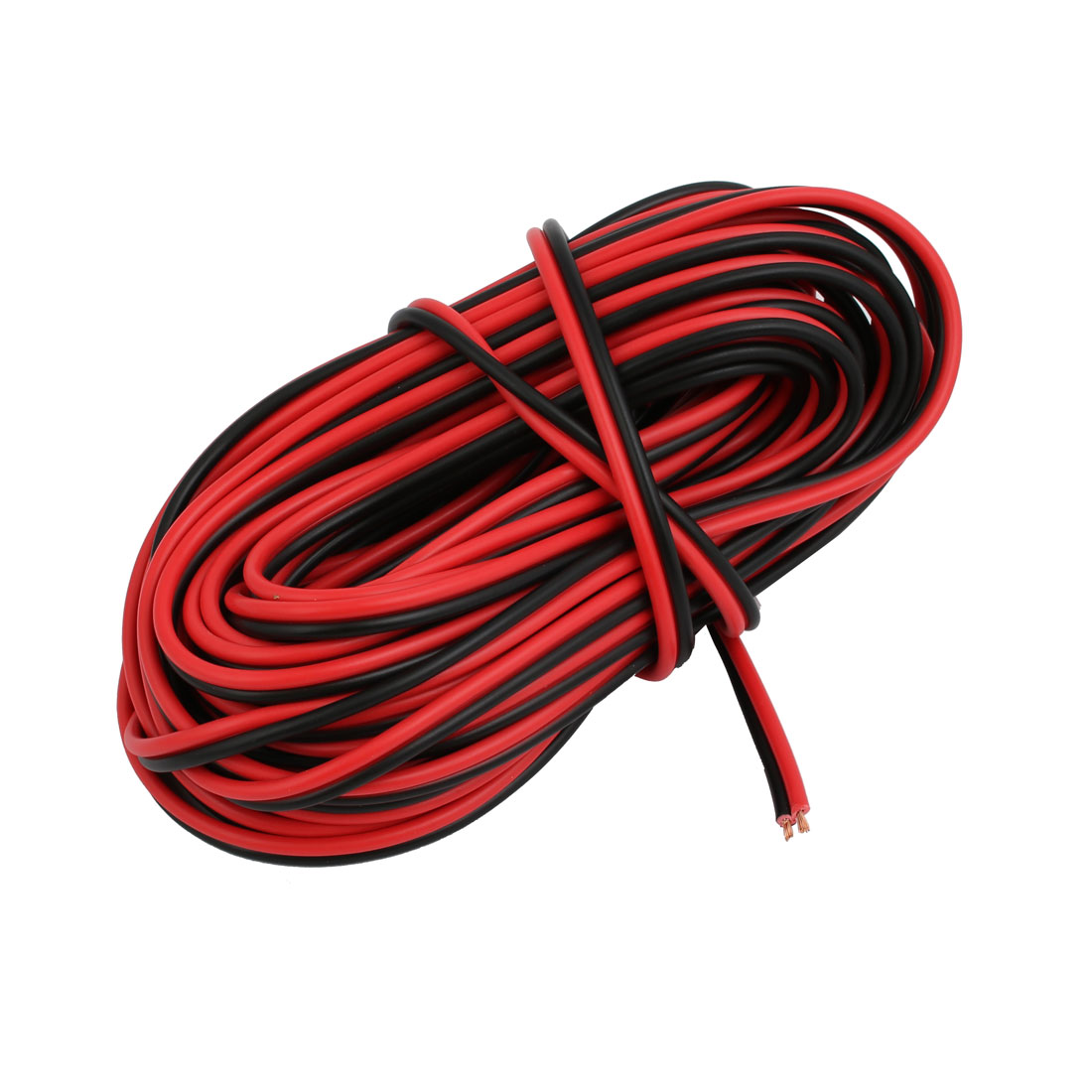 1.2mm2 Indoor Outdoor PVC Insulated Electrical Wire Cable Black Red 9.8 Meter