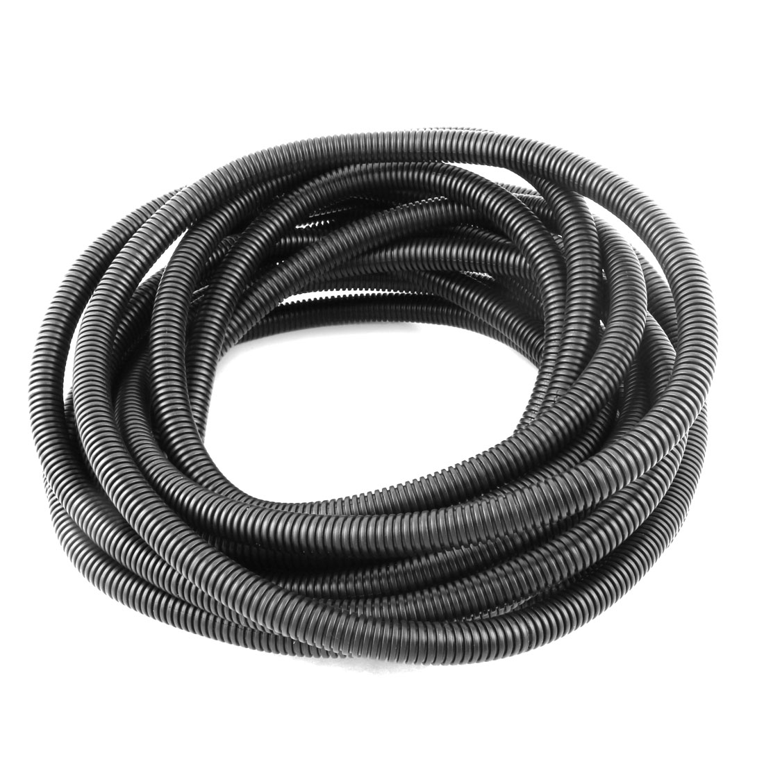 Black Plastic 12mm x 16mm Flexible Corrugated Conduit Pipe Hose Tube 10M Long