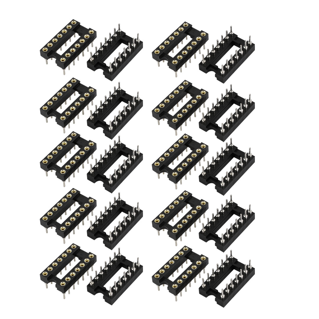 20Pcs Flat Ribbon Cable 2 Rows 14 Round Hole Terminals IDC Socket Connector