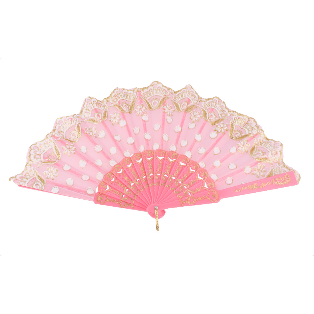 Dancing Wedding Chinese Style Flower Pattern Folding Hand Fan Colorful