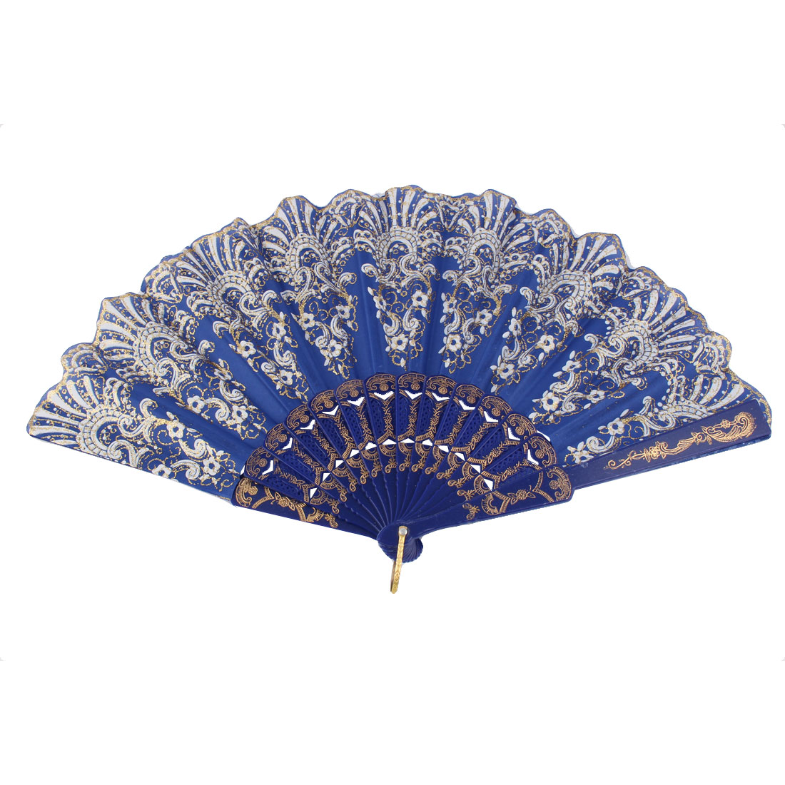 Dancing Wedding Chinese Style Flower Pattern Folding Hand Fan Purple