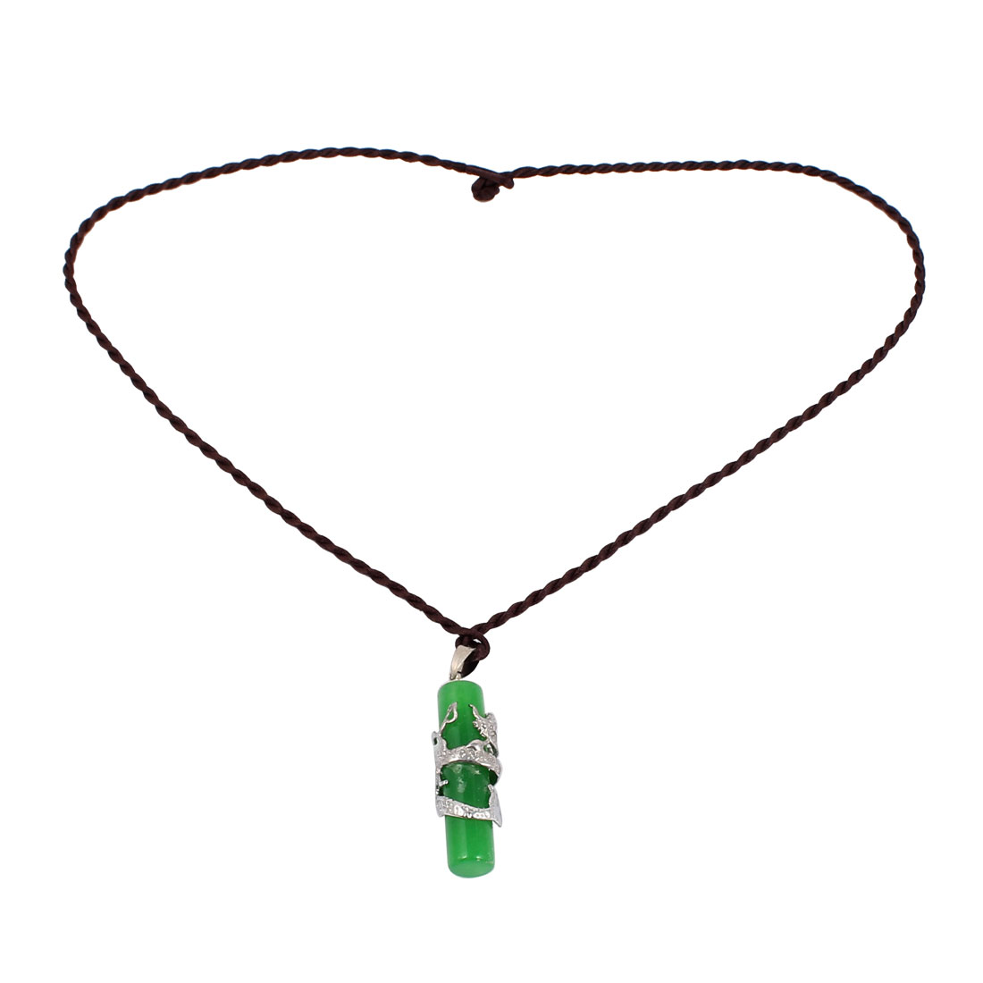 Women Jade Pendant Decoration String Neckwear Necklace Black Green