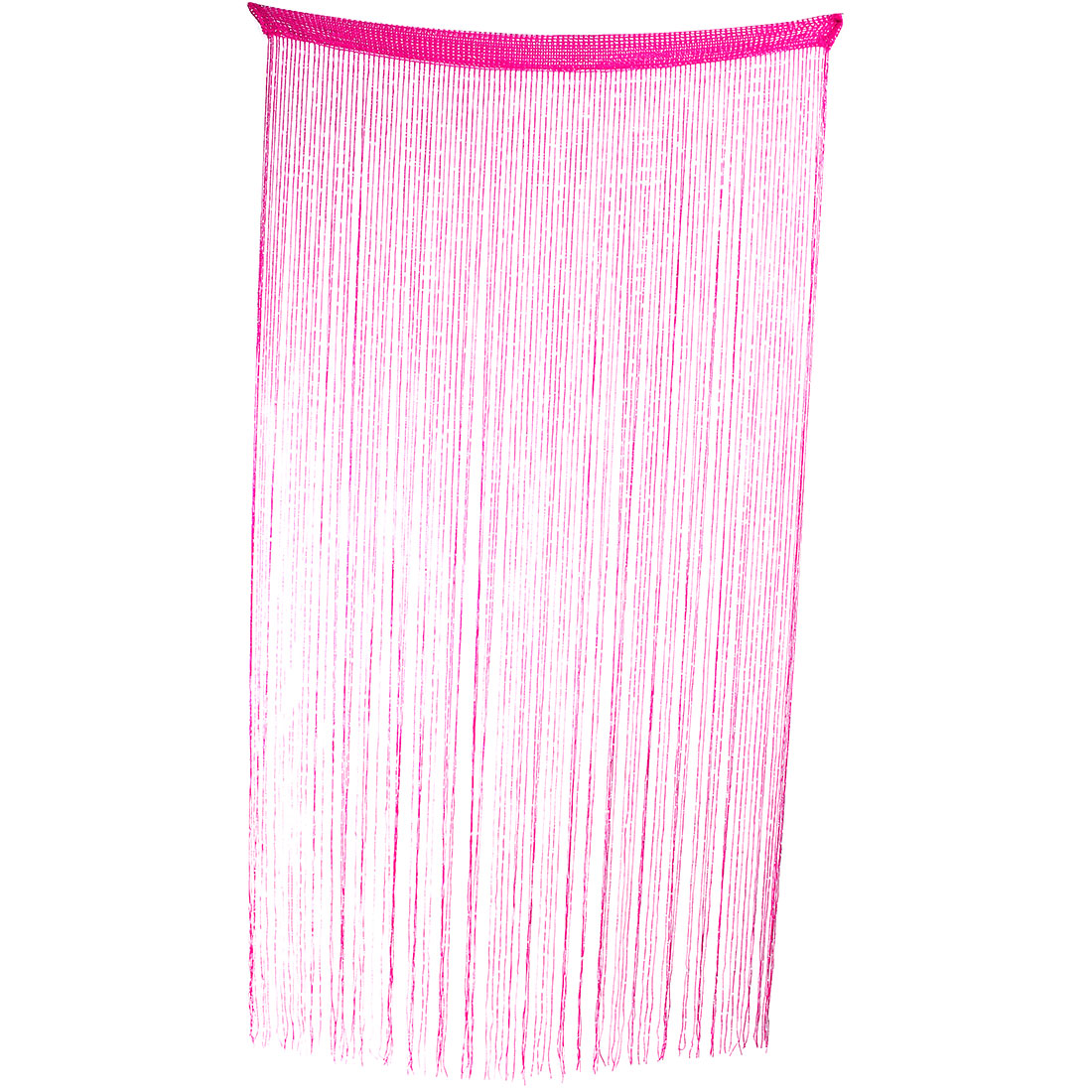 Household Yarn Weaving Tassels Design String Line Decor Window Curtain Fuchsia 2m High