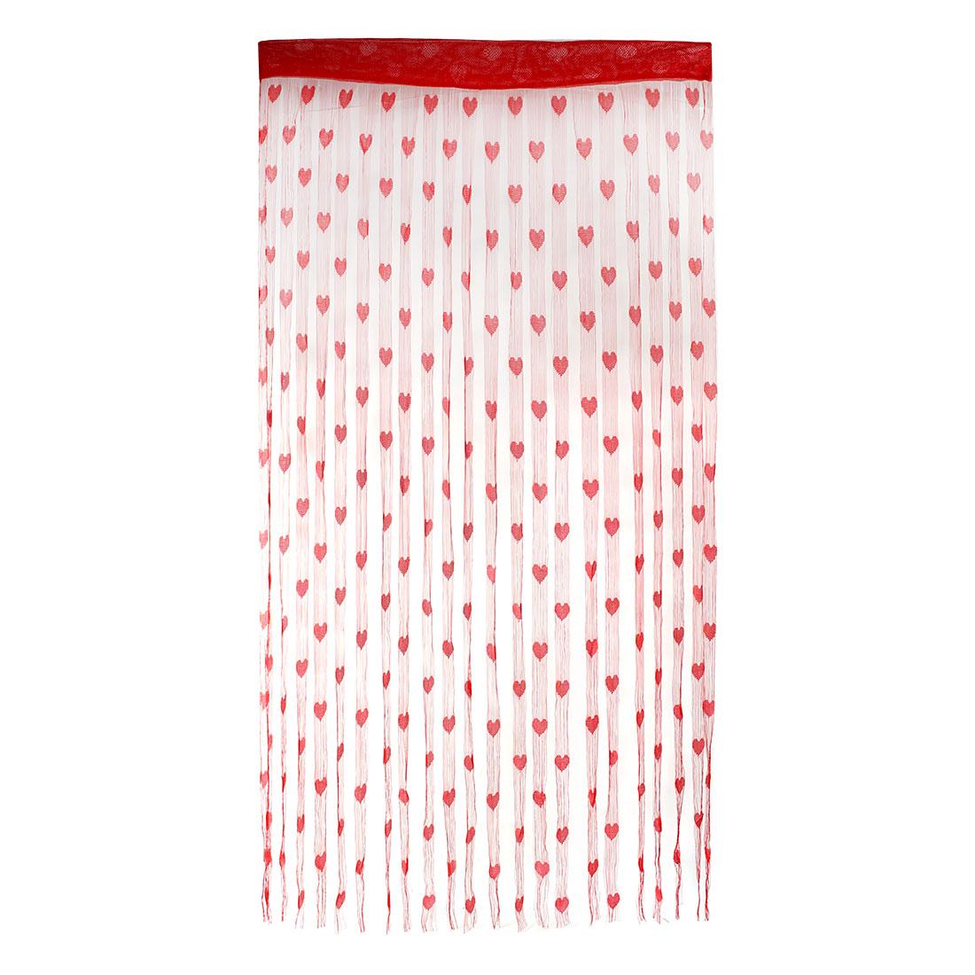 Household Nylon Heart 1 x 2mLine Pattern Divider Tassel String Door Window Curtain Dark Red