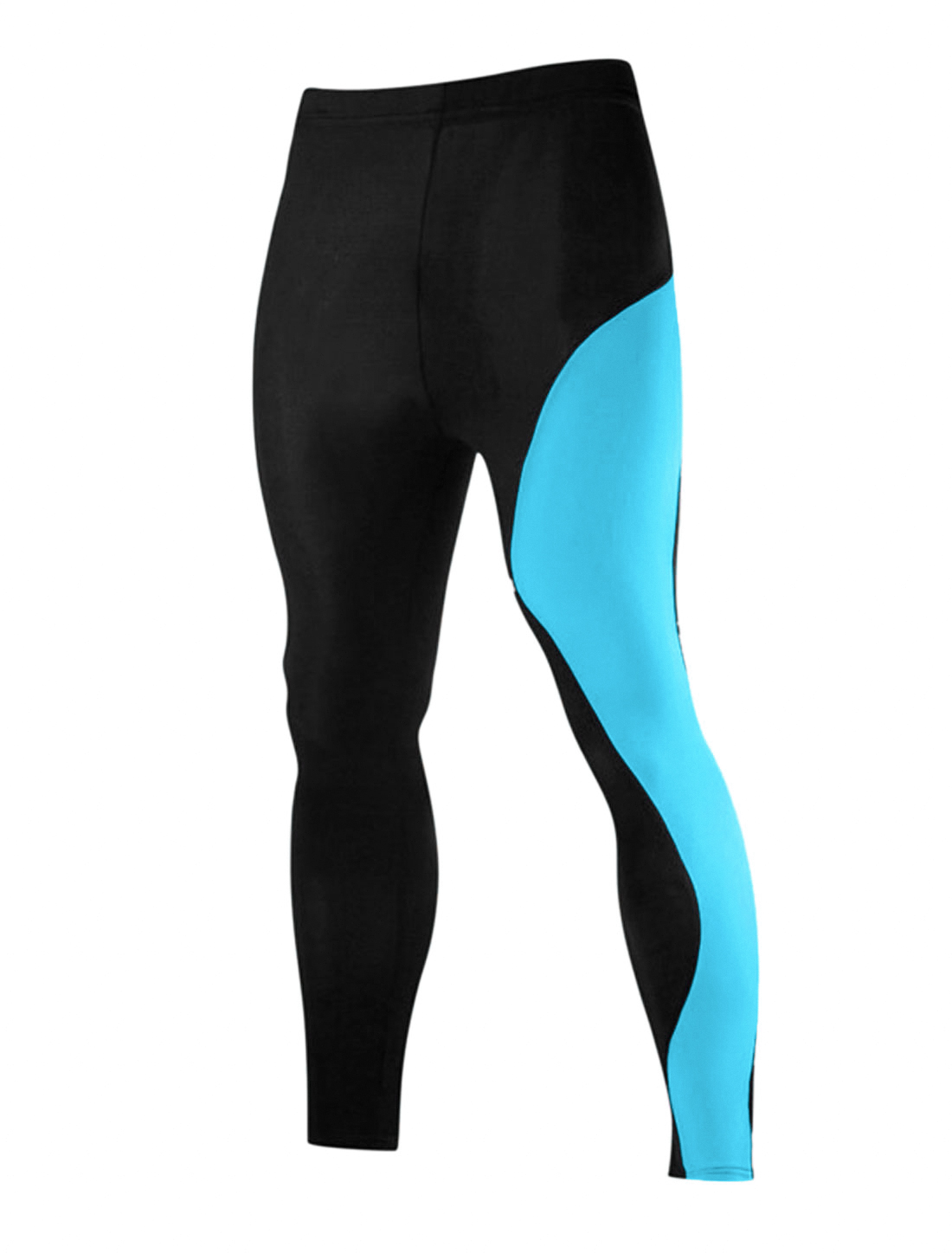 Men Lightweight Compression Running Athletic Sport Training Tights Turquoise M
