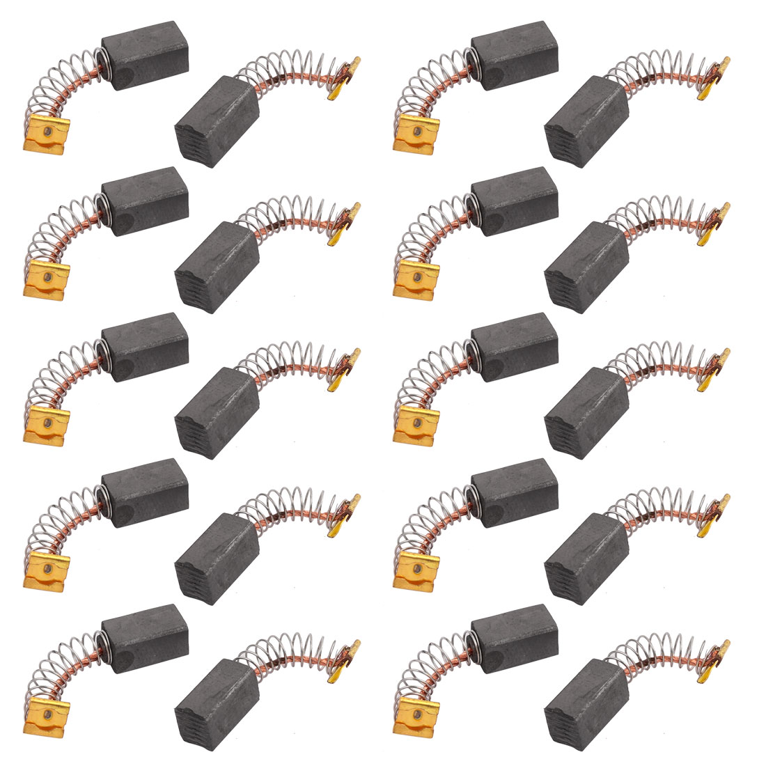 10Pairs 12.7x7.4x6.4mm Carbon Brushes Power Tool for Electric Hammer Drill Motor