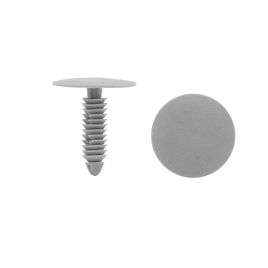 50Pcs 7mm Hole Plastic Push Type Rivet Fastener Door Bumper Pin Clips Gray