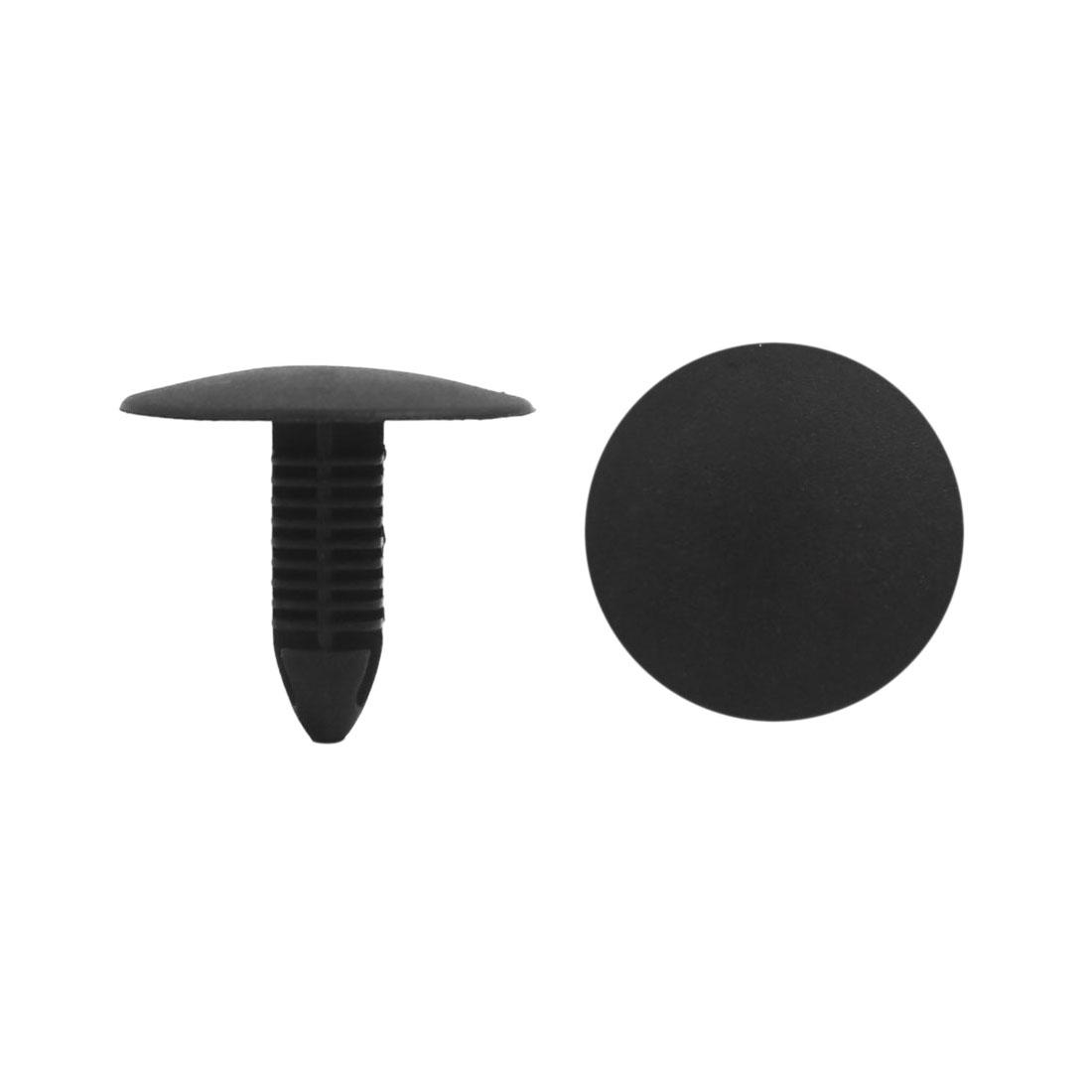 100Pcs Black Plastic Rivets Splash Guard Door Bumper Fastener Clips 10 x 8mm