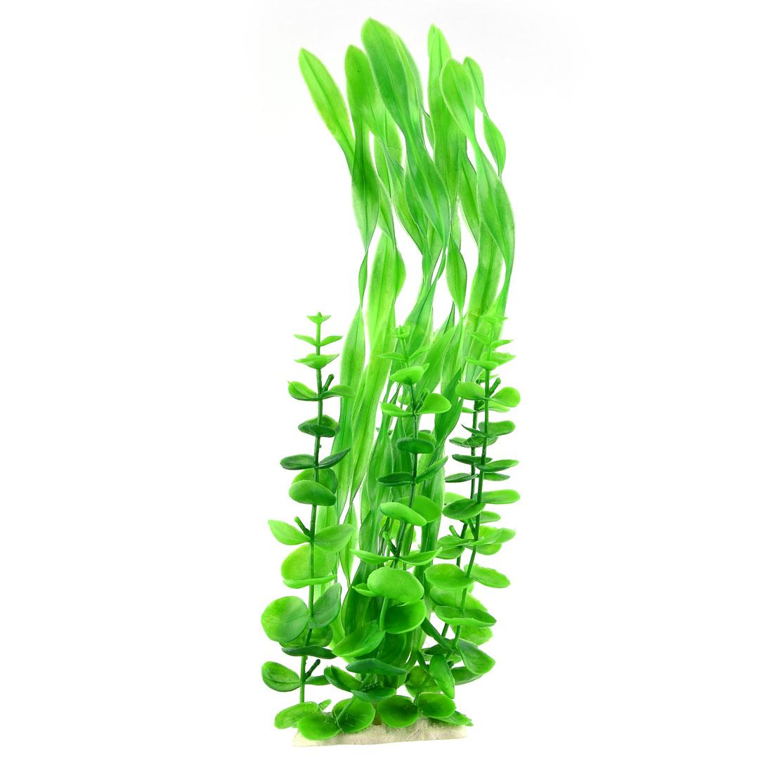 Fish Tank Aquarium Stone Base Realistic Artificial Plant Ornament Decoration Green