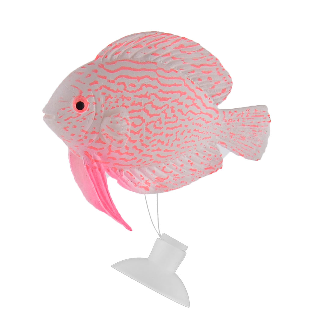 Home Aquarium Goldfish Tank Silicone Floating Artificial Simulation Fish Ornament Decor Pink