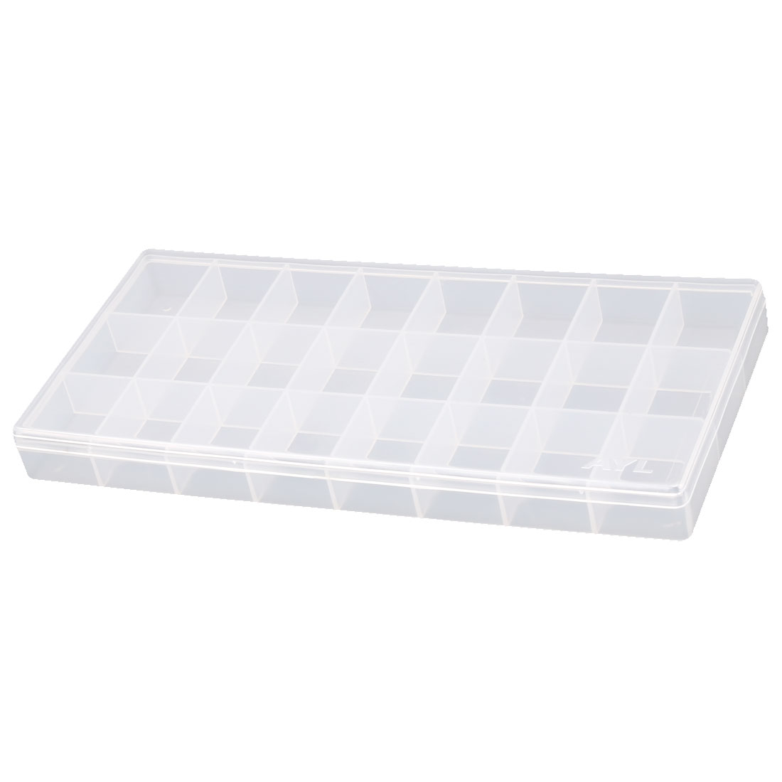 Plastic Rectangular Shaped 24 Compartment Watercolor Mixing Paint Palette Case Clear