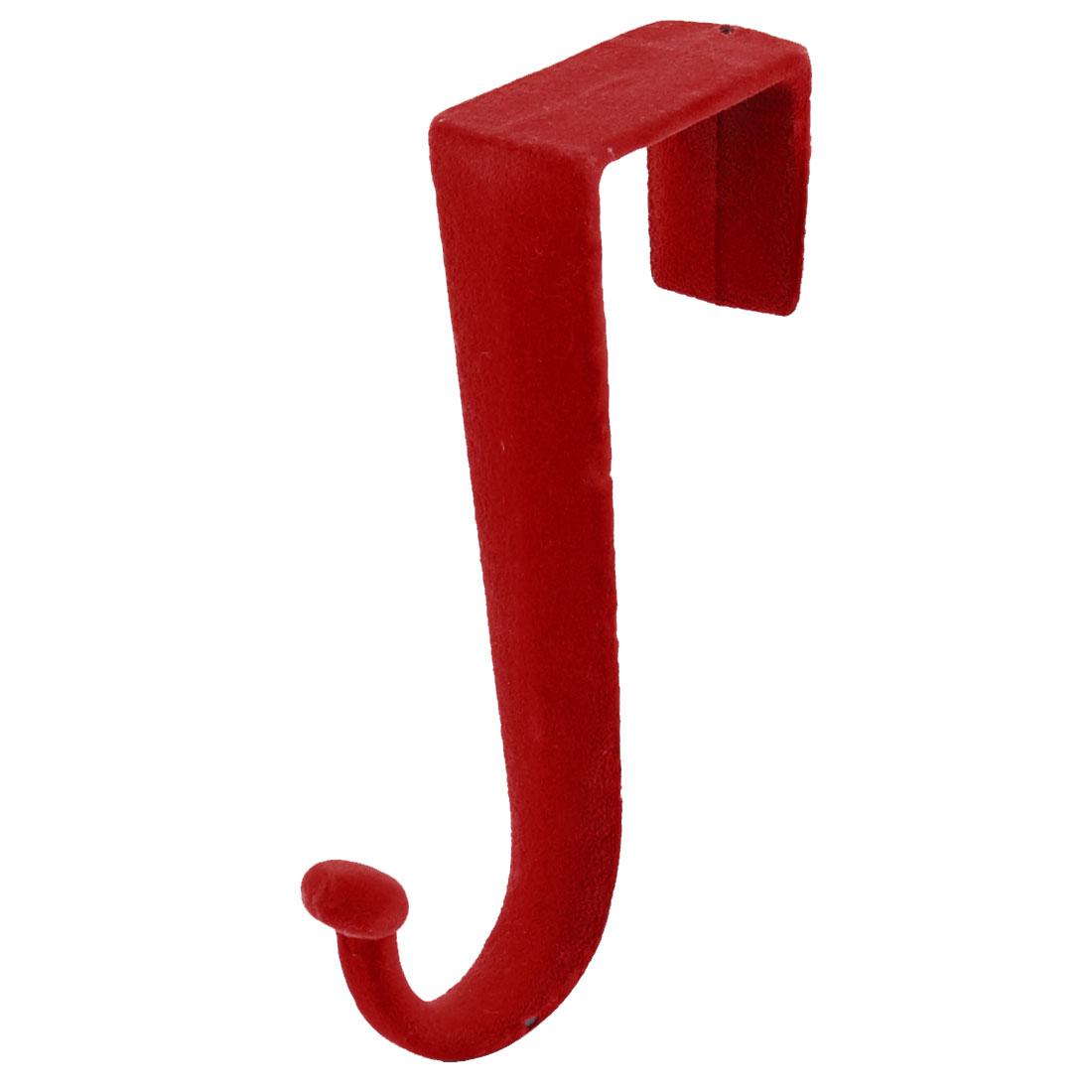 Household Plastic Z Shaped Over Door Hooks Clothes Towel Hanger Holder Red