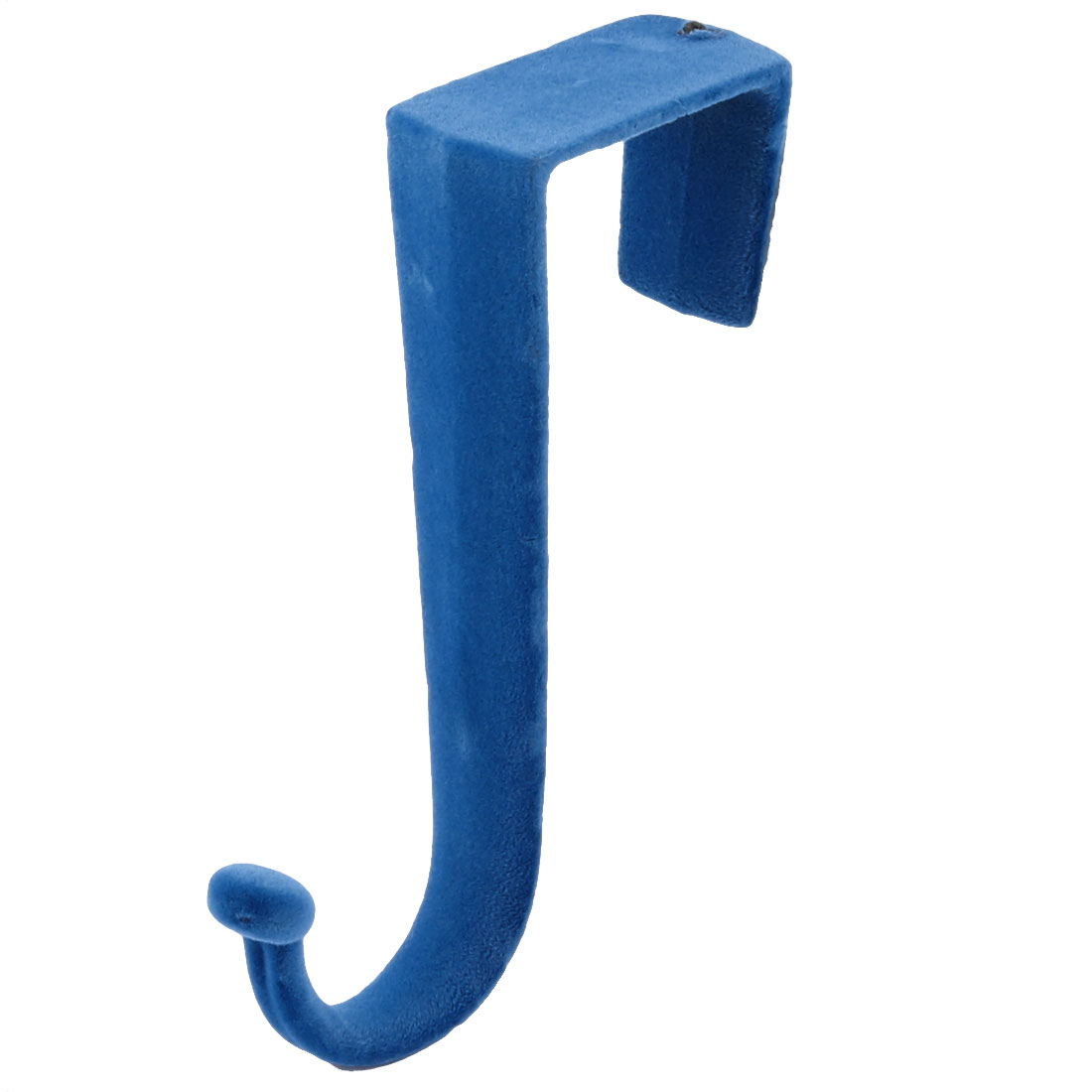 Household Plastic Z Shaped Over Door Hooks Clothes Towel Hanger Holder Blue