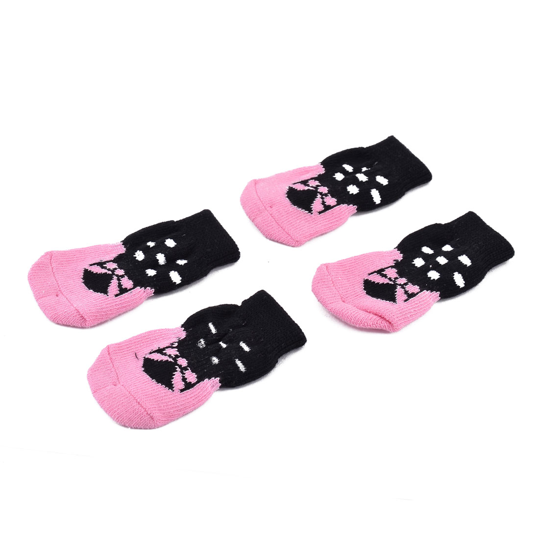 Household Outdside Pet Puppy Dog Cotton Elastic Breathable Anti-slip Sock Pair