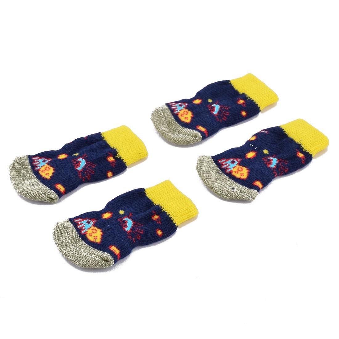 Outdoor Walking Pet Puppy Dog Cotton Elastic Breathable Anti-slip Sock Pair