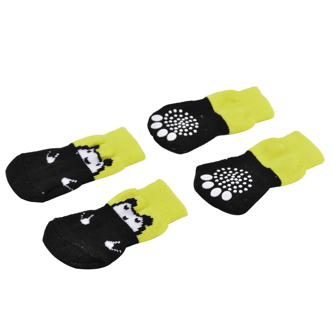 Home Outdoor Pet Puppy Dog Cat Cotton Elastic Breathable Anti-slip Sock Pair