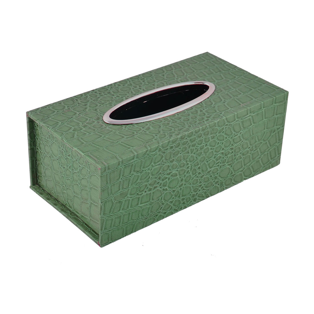 Home Office Bar Rectangle Snake Print Paper Napkin Tissue Box Storage Case Holder Container Green